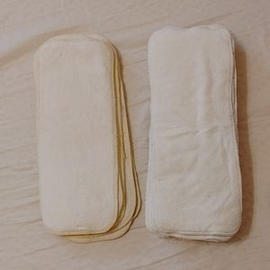 Cloth diaper bamboo and hemp inserts